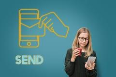 Γραφική έννοια ηλεκτρονικού ταχυδρομείου τεχνολογίας ηλεκτρονικού ταχυδρομείου Στοκ φωτογραφία με δικαίωμα ελεύθερης χρήσης