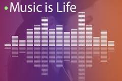 Γραφική έννοια κυμάτων μελωδίας μουσικής ακουστική Στοκ Εικόνες