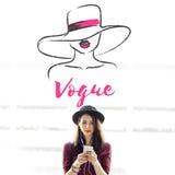 Γραφική έννοια μόδας μόδας ομορφιάς έλξης έκκλησης Στοκ φωτογραφία με δικαίωμα ελεύθερης χρήσης