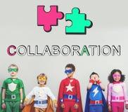 Γραφική έννοια συνεργασίας ένωσης συμμαχίας ομάδας Στοκ εικόνα με δικαίωμα ελεύθερης χρήσης