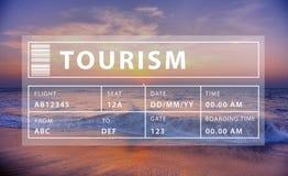 Γραφική έννοια χαλάρωσης τουρισμού ταξιδιού με σκοπό τις διακοπές Στοκ Εικόνα