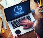 Γραφική έννοια χρηματοδότησης εικονιδίων διαγραμμάτων διαγραμμάτων πιτών Στοκ φωτογραφία με δικαίωμα ελεύθερης χρήσης