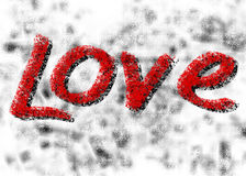 γραφική λέξη αγάπης απεικόνισης χεριών σχεδίων σχεδίου βάσης Στοκ φωτογραφία με δικαίωμα ελεύθερης χρήσης