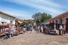 Γραφική αγορά στο Τρινιδάδ, Κούβα Στοκ φωτογραφία με δικαίωμα ελεύθερης χρήσης