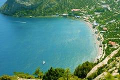 Γραφική ακτή της Κριμαίας Στοκ Εικόνες