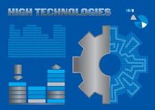 γραφική αντιπροσώπευση της υψηλής τεχνολογίας απεικόνιση αποθεμάτων
