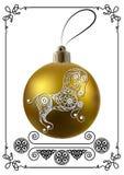 Γραφική απεικόνιση με τη διακόσμηση 29 Χριστουγέννων ελεύθερη απεικόνιση δικαιώματος