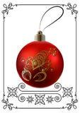 Γραφική απεικόνιση με τη διακόσμηση 26 Χριστουγέννων απεικόνιση αποθεμάτων