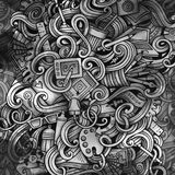 Γραφική απεικόνιση σχεδίου Doodles ανασκόπηση τέχνης δημιουργική Στοκ Φωτογραφία
