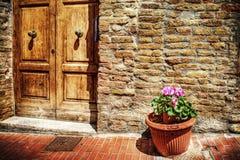 Γραφική γωνία στο SAN Gimignano Στοκ Φωτογραφία