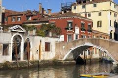 Γραφική εικονική παράσταση πόλης της Βενετίας Στοκ Φωτογραφία