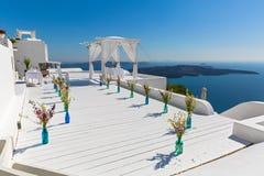 Γραφική θέση για το γάμο Στοκ Φωτογραφία