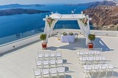 Γραφική θέση για το γάμο Στοκ εικόνα με δικαίωμα ελεύθερης χρήσης