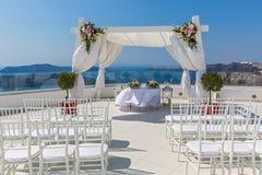 Γραφική θέση για το γάμο Στοκ φωτογραφίες με δικαίωμα ελεύθερης χρήσης
