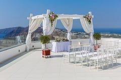 Γραφική θέση για το γάμο Στοκ φωτογραφία με δικαίωμα ελεύθερης χρήσης