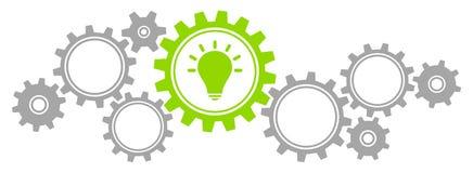 Γραφική ιδέα συνόρων εργαλείων γκρίζα και πράσινη διανυσματική απεικόνιση