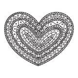 Γραφική καρδιά doodle, διάνυσμα στοκ φωτογραφία με δικαίωμα ελεύθερης χρήσης