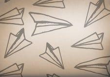 γραφική παράσταση αεροπλάνων εγγράφου με το αγροτικό υπόβαθρο στοκ φωτογραφία με δικαίωμα ελεύθερης χρήσης