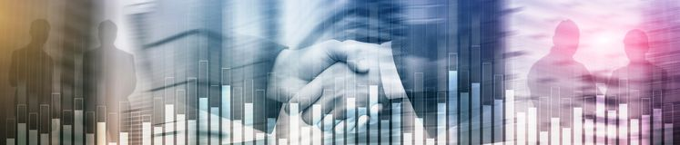Γραφική παράσταση επιχειρήσεων και χρηματοδότησης στο θολωμένο υπόβαθρο Έννοια εμπορικών συναλλαγών, επένδυσης και οικονομικών Έμ διανυσματική απεικόνιση