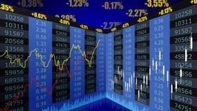 Γραφική παράσταση διαγραμμάτων χρηματιστηρίου διανυσματική απεικόνιση