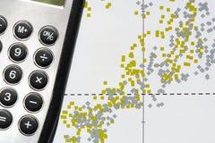 Γραφική παράσταση διασποράς χρηματιστηρίου Στοκ φωτογραφίες με δικαίωμα ελεύθερης χρήσης