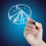 Γραφική παράσταση πιτών σχεδίων χεριών Στοκ φωτογραφία με δικαίωμα ελεύθερης χρήσης