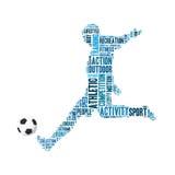 Γραφική παράσταση πληροφορία-κειμένων ποδοσφαίρου Απεικόνιση αποθεμάτων