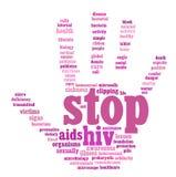 Γραφική παράσταση πληροφορία-κειμένων του AIDS HIV Στοκ Εικόνα
