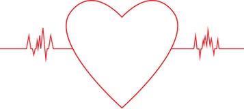 Γραφική παράσταση ποσοστού καρδιών Στοκ φωτογραφία με δικαίωμα ελεύθερης χρήσης