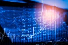 Γραφική παράσταση των στοιχείων χρηματιστηρίου και οικονομικός με την ανάλυση IND αποθεμάτων Στοκ εικόνες με δικαίωμα ελεύθερης χρήσης