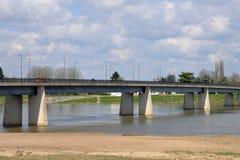 Γραφική πόλη της κηλίδας sur Loire στο Loiret Στοκ εικόνα με δικαίωμα ελεύθερης χρήσης