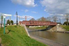 Γραφική πόλη Briare στο Loiret Στοκ εικόνα με δικαίωμα ελεύθερης χρήσης