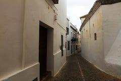 Γραφική στενή οδός Arcos de στο Λα Frontera, Ισπανία Στοκ Εικόνες