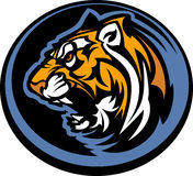 γραφική τίγρη μασκότ Στοκ Εικόνες