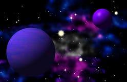 Γραφική ταπετσαρία σχεδίου γαλαξιών φαντασίας Στοκ φωτογραφίες με δικαίωμα ελεύθερης χρήσης