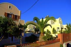 Γραφική υποτροπική σκηνή από Santorini, Ελλάδα Στοκ εικόνα με δικαίωμα ελεύθερης χρήσης