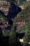 Γραφική φυσική άποψη βουνών Ouray Κολοράντο δύσκολη στοκ εικόνες