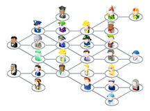 γραφικοί άνθρωποι δικτύων απεικόνιση αποθεμάτων