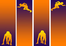 γραφικός αθλητισμός φυλών Ελεύθερη απεικόνιση δικαιώματος