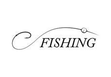 Γραφικός γάντζος αλιείας, διάνυσμα στοκ εικόνα