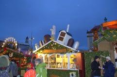 Γραφικός εκθεσιακός χώρος Χριστουγέννων στοκ φωτογραφία με δικαίωμα ελεύθερης χρήσης