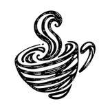 Γραφικός καυτός καφές, διάνυσμα απεικόνιση αποθεμάτων