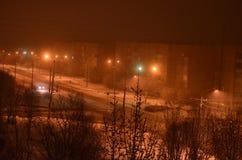 γραφικός ουρανός οδικών βράχων νύχτας δράματος Στοκ εικόνες με δικαίωμα ελεύθερης χρήσης
