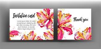 Γραφικός floral δημιουργεί από hibiscus το λουλούδι ζωηρόχρωμος στην περίληψη Στοκ εικόνες με δικαίωμα ελεύθερης χρήσης
