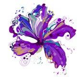 Γραφικός floral δημιουργεί από hibiscus το λουλούδι Στοκ φωτογραφία με δικαίωμα ελεύθερης χρήσης