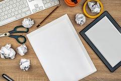 Γραφικός tabletop σχεδιαστών χώρος εργασίας Στοκ Φωτογραφία