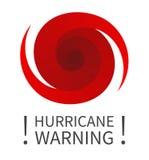 Γραφικό έμβλημα της προειδοποίησης τυφώνα ελεύθερη απεικόνιση δικαιώματος
