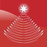 Γραφικό αφηρημένο χριστουγεννιάτικο δέντρο Στοκ εικόνες με δικαίωμα ελεύθερης χρήσης