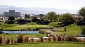 Γραφικό γήπεδο του γκολφ Στοκ Εικόνα