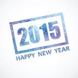 Γραφικό νέο έτος γραμματοσήμων περίπου το 2015 Στοκ Εικόνα